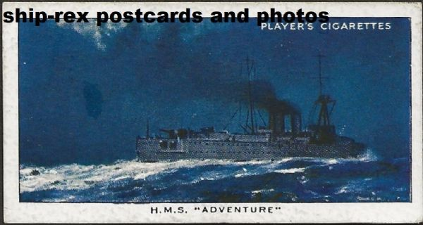 ADVENTURE (1926, Royal Navy) cigarette card